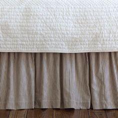 Taylor Linens Farmhouse Stripe Bed Skirt $100.37 Queen