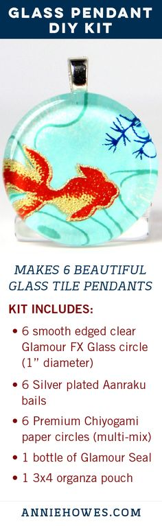 Discover one-of-a-kind, handmade jewelry on Etsy. Glass Tile Pendant, Glass Pendants, Wire Crafts, Jewelry Crafts, Handmade Jewelry, Diy Accessoires, Stained Glass Designs, Fun Activities For Kids, Diy Kits