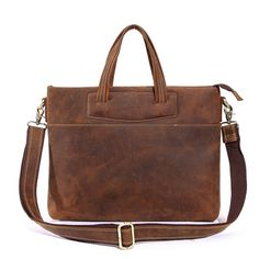 We use selected thick genuine cow leather, quality hardware and nylon fabric to make the bag as good as it is. This bag is perfect as your everyday bag, it also can be used as a backpack, which can fit for a 13'' Laptop, an IPAD, A4 files, books, magazines, as well as many accessories. *******...