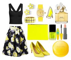 """""""Work that yellow"""" by madhu-147 ❤ liked on Polyvore featuring Marc by Marc Jacobs, J.Crew, Alexis Bittar, Rolex, Comme des Garçons, Forever 21, Marc Jacobs, Easy Spirit, Dr.Ci:Labo and Maybelline"""