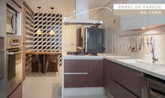 Decoração cozinha - Papel de parede (Projeto: Triplex Arquitetura)