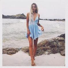 NBD x REVOLVE Get Out Dress in Pale Blue | REVOLVE