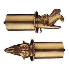 Mixtec Gold Artifacts Ehecatl lip plug