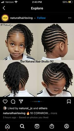 Toddler Braided Hairstyles, Natural Braided Hairstyles, Cute Little Girl Hairstyles, Little Girl Braids, Natural Hair Braids, Braids With Curls, Baby Girl Hairstyles, Natural Hairstyles For Kids, Curly Hair Tips