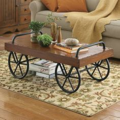 Rustic Decorating   Crafted In The Style Of A Baggage Cart, The Leeds Coffee  Table Is Realistically Detailed With A Metal Undercarriage, ...
