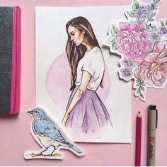 Imagem de art, girl, and draw