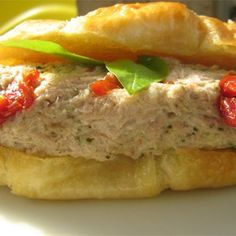 Pesto and sun-dried tomatoes make a splash in this excitingly different tuna salad.  Allrecipes.com
