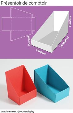 Diy Cardboard Furniture, Cardboard Crafts, Counter Display, Display Boxes, Carton Diy, Paper Box Template, Papier Diy, Paper Crafts Origami, Diy Box