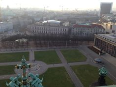 View from the top of the Berliner Dom at the Lustgarten/Museumisle.