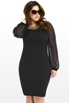 Simple and Elegant Starlet Chain Dress - Fashion to Figure