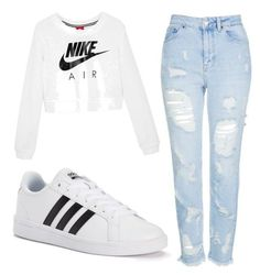 """Untitled #4"" by lara-ribeiro-i on Polyvore featuring NIKE, Topshop and adidas"