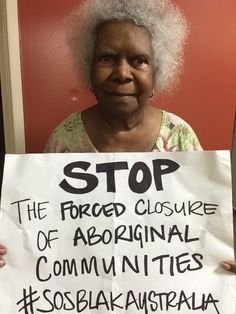 ‏.@DebKilroy #mabo #SOSBLAKAUSTRALIA  Stop the forced closure of Aboriginal Communities Mrs Mabo stands proud for Aboriginal Rights