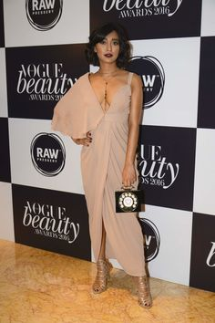 Sayani Gupta in a Manika Nanda dress, Boga clutch, Steve Madden heels and Forever 21 accessories. The Week In Style South Indian Actress Hot, Indian Bollywood Actress, Bollywood Saree, Beautiful Indian Actress, Bollywood Fashion, Indian Actresses, Balmain Dress, Vogue Beauty, Beauty Awards