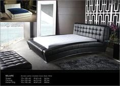 Belaire Leather Bed