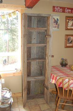 barnwood ideas | Reclaimed Barnwood Cabinet
