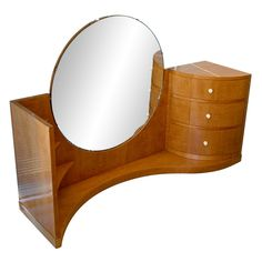 Art Deco. Betty Joel, 1930's Sycamore Dressing Table
