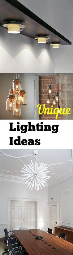 Unique Lighting Ideas. DIY, DIY home projects, home décor, home, dream home, DIY kitchen, DIY kitchen projects, weekend DIY projects.