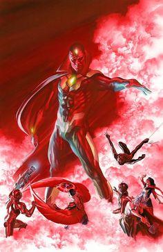 Alex Ross ///  New Avengers cover (thank you John Buscema)