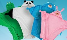 Groupon - Kid's Animal Hooded Blanket in [missing {{location}} value]. Groupon deal price: $14.99