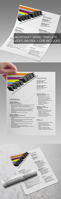 3 STYLISH RESUME TEMPLATES FOR MICROSOFT WORD FOR THE PRICE OF 1 - microsoft resume