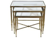 Italian Brass Nesting Tables, S/3 on OneKingsLane.com