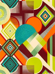 Mwamba Abstract from the Africa collection by the De Leon Design Group for Alexander Henry Fabrics.