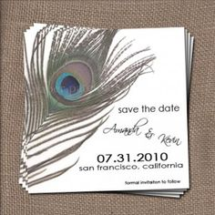 save the date peacock style