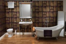 A focal point of the new BLOOMSBURY collection from BAGNODESIGN is the luxurious, classically styled roll top bath, complete with claw feet and an elegantly sloping high back. #luxury #bathroom #collection #furniture #retro #bath #classic #elegance