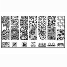 Creazy 10pcs Women Nail Art DIY Nail Stamp Stamping Image Plate Print Nail Art Template >>> Learn more by visiting the image link. Note:It is Affiliate Link to Amazon.