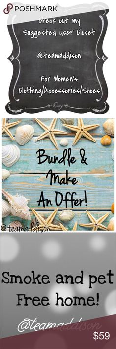 BUNDLE and make an offer! I ❤ reasonable offers! 📦Same day shipping (as long as P.O. is open for business). ❤ Measurements are approximate. Descriptions are accurate to the best of my knowledge.  My name is Jessie and I have been loving Poshmark since February 2016. I began with the closet @teamaddison (link is the first comment under this listing) where you can find women's clothing/accessories/shoes/make up. I created this closet just for the guys! I love reasonable offers! I wrap all…