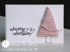 Some fiddling on the kitchen table: Warme Wensen