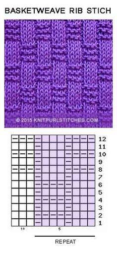 Just Knit and Purl-Basket-weave Rib stitch. Just Knit and Purl Basket-weave Rib stitch. Just Knit and Purl - Knitting Paterns, Knitting Charts, Lace Knitting, Knitting Needles, Crochet Stitches, Knitting Socks, Crochet Patterns, Crochet Ideas, Knit Crochet
