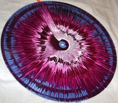 Spin Art Painted Vinyl Record by RumorHasItNiles on Etsy, $10.00