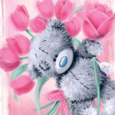 tatty teddy bear flowers