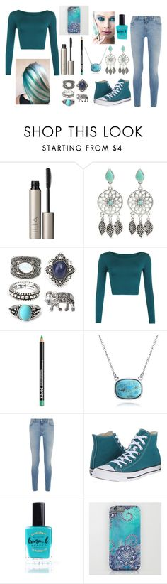 """""""Wild Teal Lover... (I Personally Don't Really Like This Set) 😂"""" by graciesmiles1324 ❤ liked on Polyvore featuring Ilia, WearAll, NYX, Bling Jewelry, Givenchy, Converse, Lauren B. Beauty and Kori"""