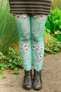 95f9ea4c6 Mariette Bleue Printed Tights