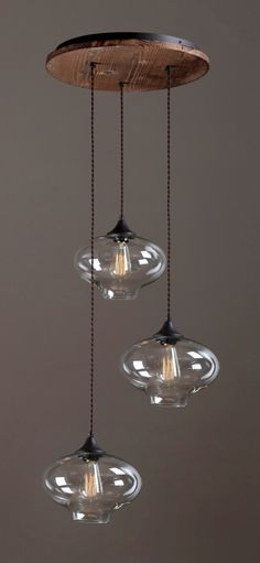 CHINATOWN triple pendant light by www.reclamations.co