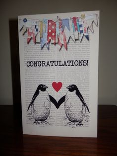 congratulations on your engagement - she likes penguins! :0)