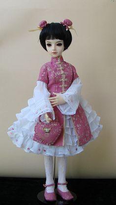 Qi-lolita dress for Fiume MSD BJD, OOAK