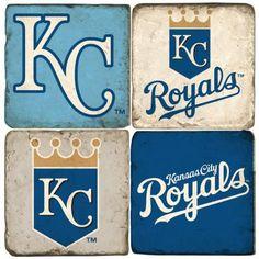 Kansas City Royals Handcrafted Marble Coaster Set