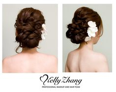 Gorgeous low updo
