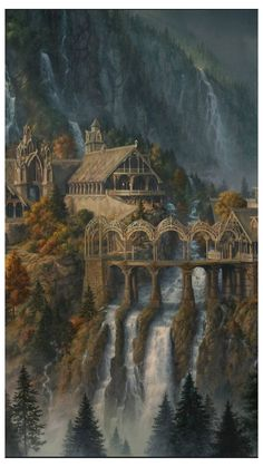 Fantasy City, Fantasy Castle, Fantasy Places, Fantasy World, Fantasy Concept Art, Fantasy Artwork, Natur Wallpaper, O Hobbit, Hobbit Art