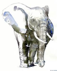 watercolor elephants - Bing images