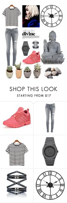 """Black and Red"" by tamara-kotoyan on Polyvore featuring adidas Originals, Dondup, CC, Eva Fehren, Universal Lighting and Decor and Quarry"