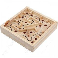 Ahşap Labirent Zeka Oyunu Wooden Puzzles