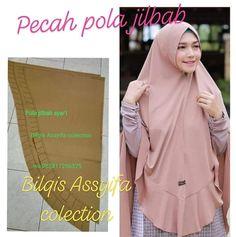 Pola hijab - Her Crochet Abaya Fashion, Muslim Fashion, Drape Skirt Pattern, Dress Muslim Modern, Scrub Hat Patterns, Instant Hijab, How To Wear Hijab, Dress Sewing Tutorials, Modele Hijab
