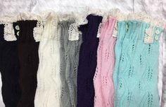 Baby Buttons & Lace Leg Warmers - 3 Colors
