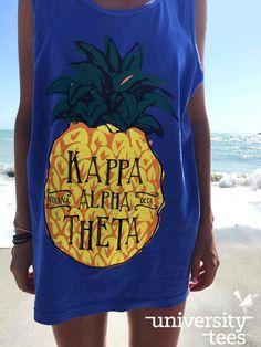 Nothing like an oversized beach tank | Kappa Alpha Theta | Made by University Tees | www.universitytees.com