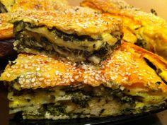 Placinte turceasti ,foi subtiri facute,brânza,spanac