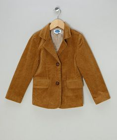 Take a look at this Camel Cord Jacket by Patricia Mendiluce on #zulily today!